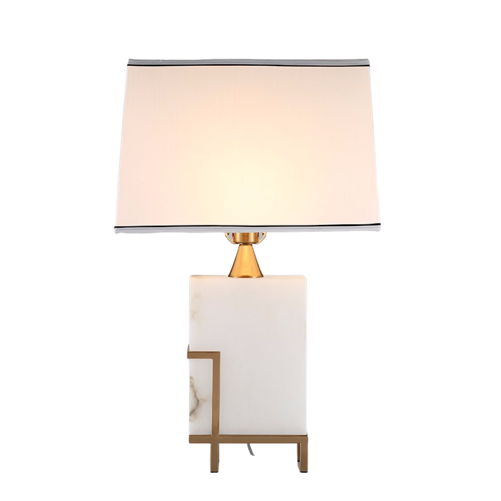 ROOBBA Etna Marble Gold Table Lamp