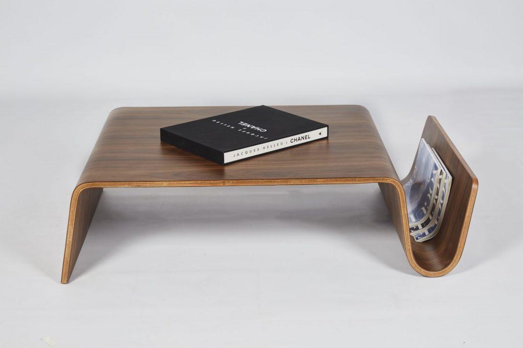 Clark Wood Coffee Table Magazine Rack ROOBBA