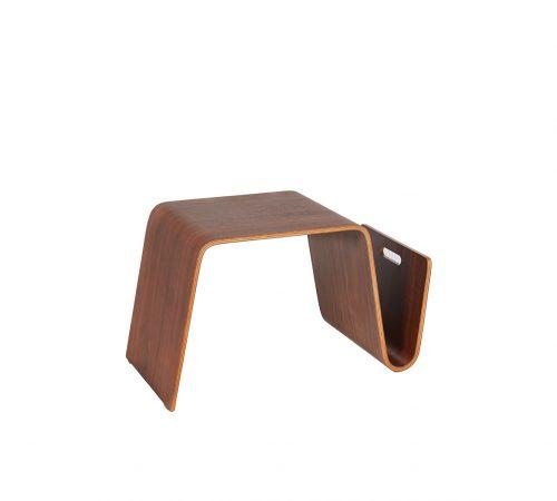 Clark Small Wooden Coffee Table Magazine Rack ROOBBA