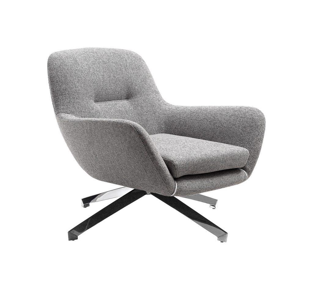 Cody Grey Fabric Armchair