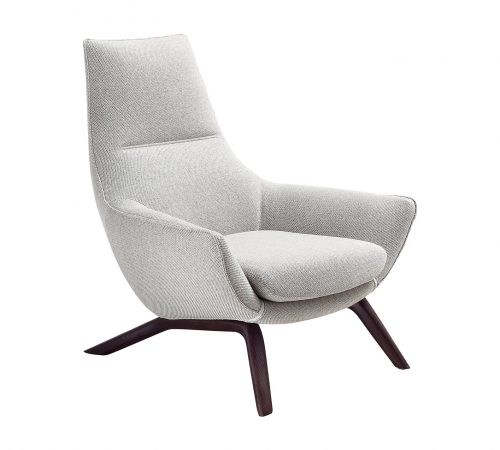 Tanner Grey Fabric Armchair ROOBBA