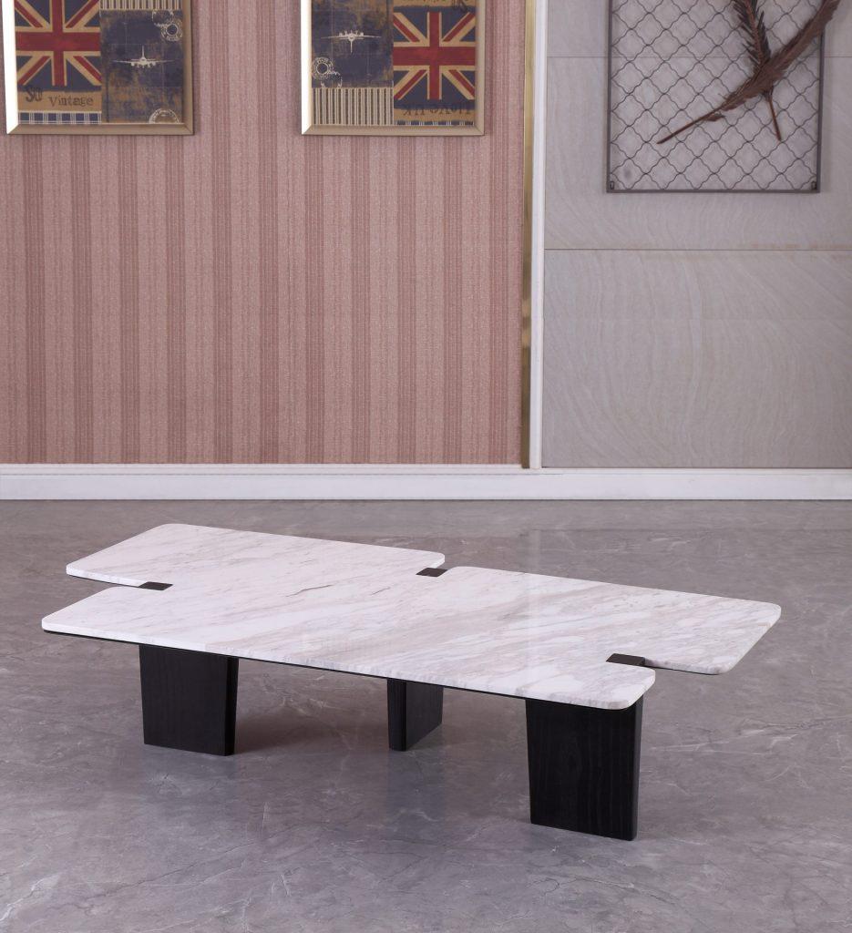 Louis Marble & Wood Coffee Table