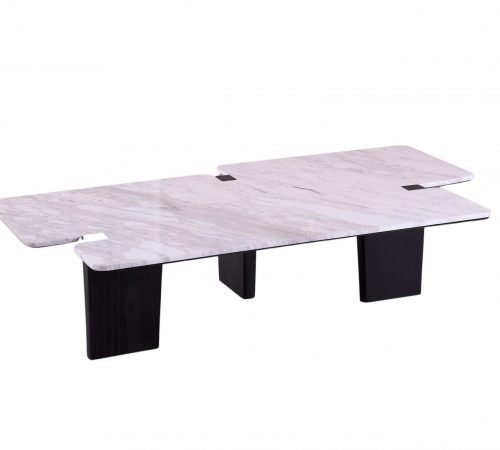 Louis Marble & Wood Coffee Table