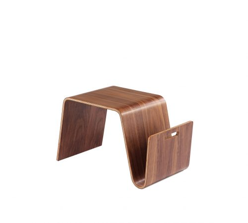 Clark Wood Coffee Side Table Magazine Rack ROOBBA