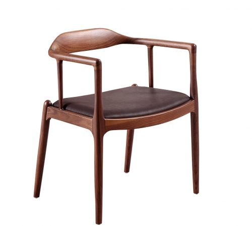 Spencer Brown Wood Scandinavian Dining Chair ROOBBA
