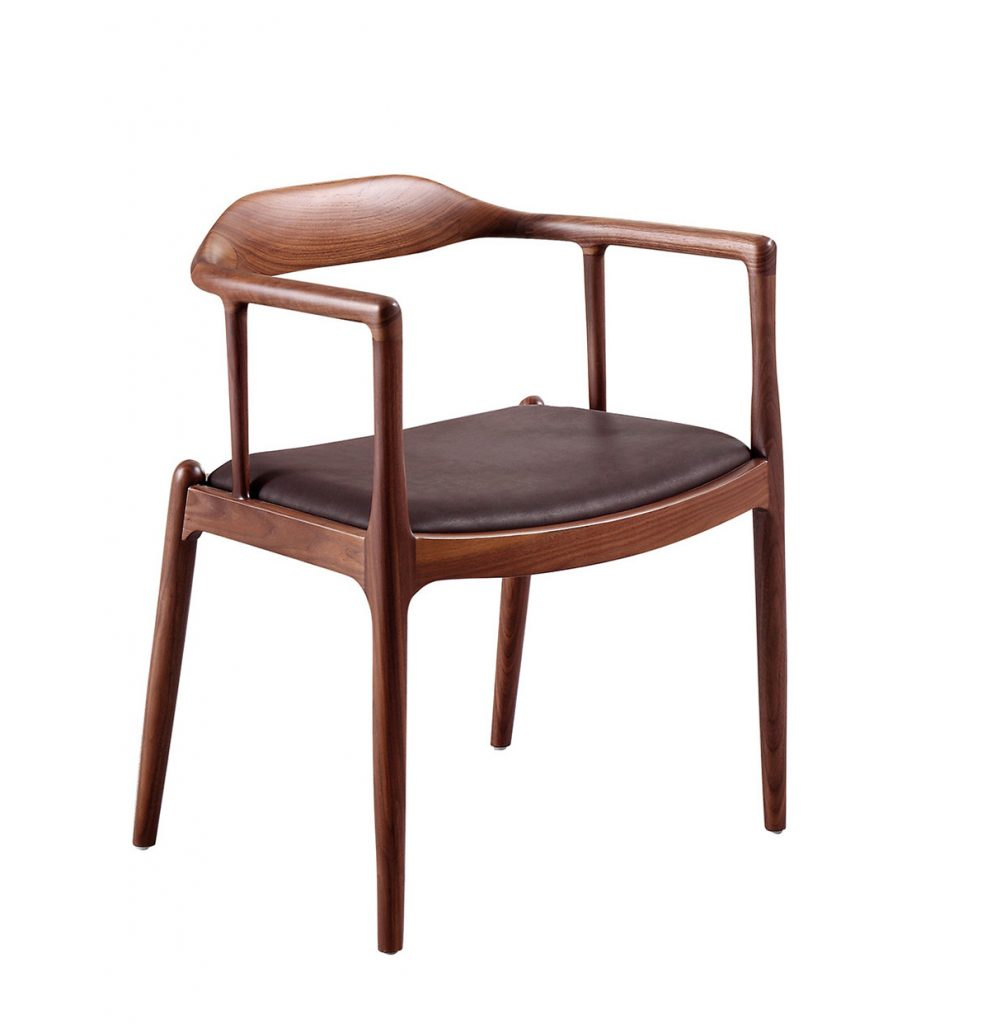 Spencer Brown Wood Scandinavian Dining Chair ROOBBA
