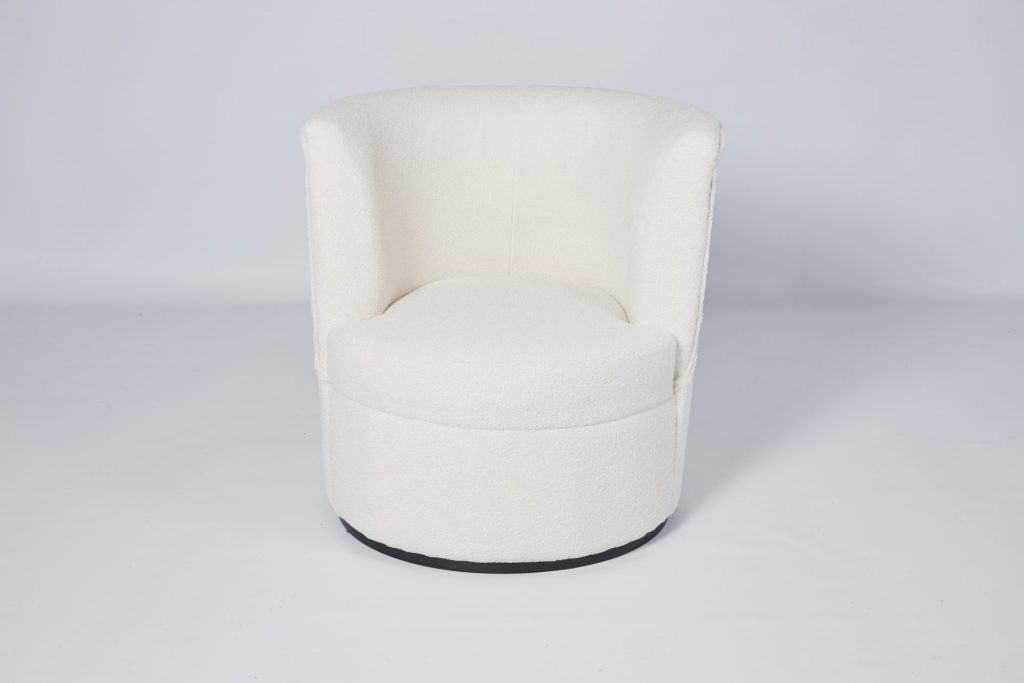 Cream Sherpa Modern Armchair Occasional Chair ROOBBA