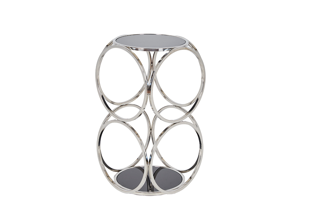 Milo Silver Chrome Black Metal Side Table Stunning Design Cheap ROOBBA