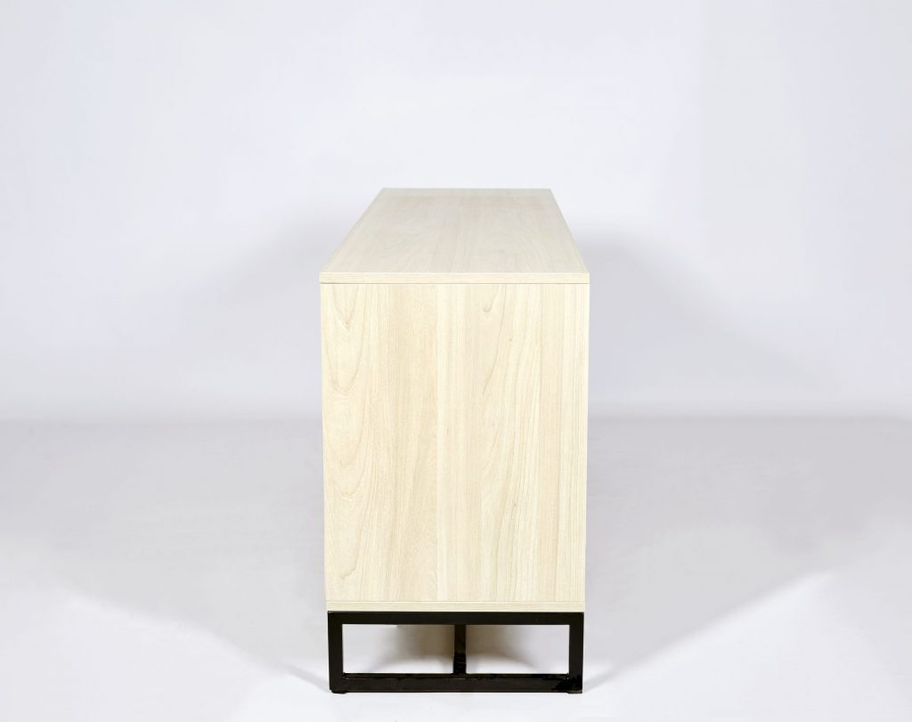 ROOBBA Light Maple Sideboard With Black & Gold Detailing